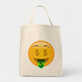 Money Man Emoji Tote Bag