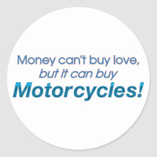 Money & Motorcycles Stickers