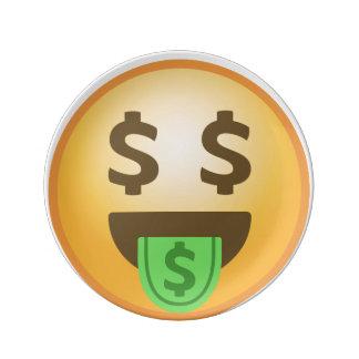 Money Mouth Emoji Porcelain Plates