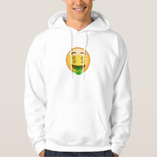 Money-Mouth Face Emoji Hoodie