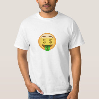 Money-Mouth Face Emoji T-Shirt