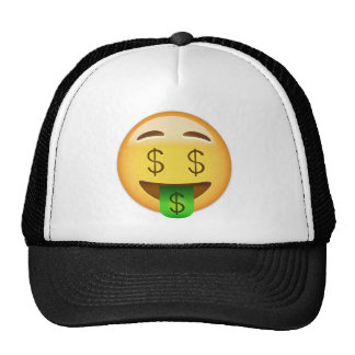 Money-Mouth Face Emoji Trucker Hat