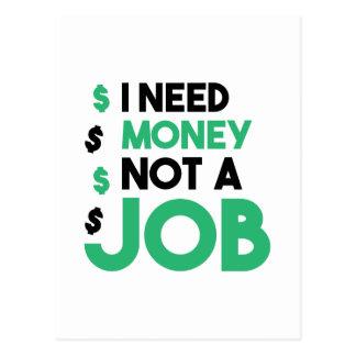 Money Not A Job Postcard