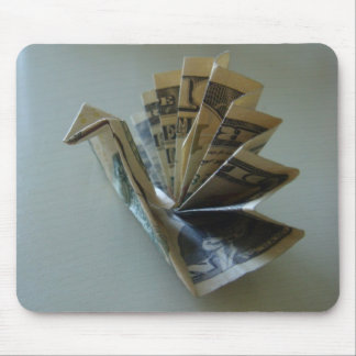Money Origami Turkey Side Mouse Pad