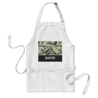 Money Pattern; Green Aprons