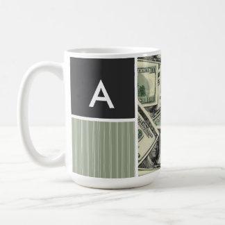 Money Pattern; Green Mugs