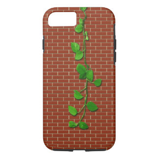 Money Plant on Red Brickwall iPhone 7 Case