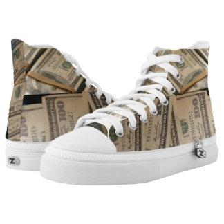 Money Print High top Shoes