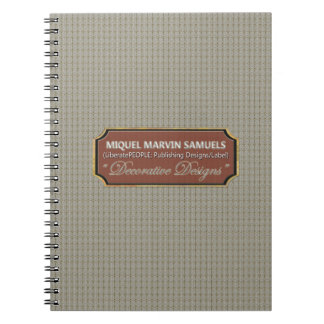 Money Rolls Pattern Decorative Modern Notebook