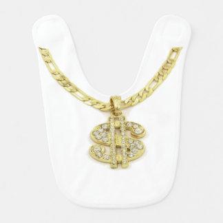 Money Sign Necklace Baby Bib