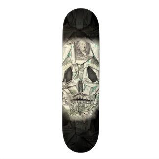 Money Skull Skate Board