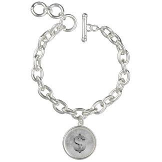 Money symbol bracelet