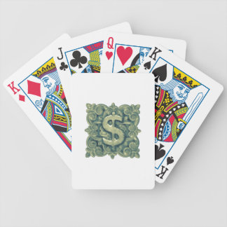 Money Symbol Ornament Bicycle Playing Cards