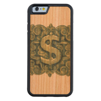 Money Symbol Ornament Carved Cherry iPhone 6 Bumper Case