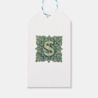 Money Symbol Ornament Gift Tags