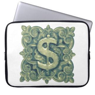 Money Symbol Ornament Laptop Sleeve