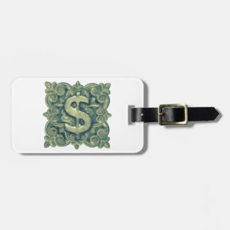 Money Symbol Ornament Luggage Tag