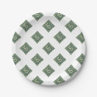 Money Symbol Ornament Paper Plate