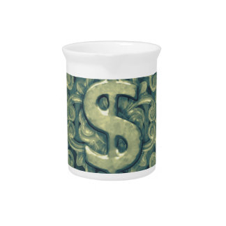Money Symbol Ornament Pitcher