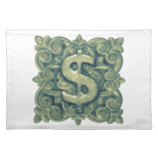 Money Symbol Ornament Placemat