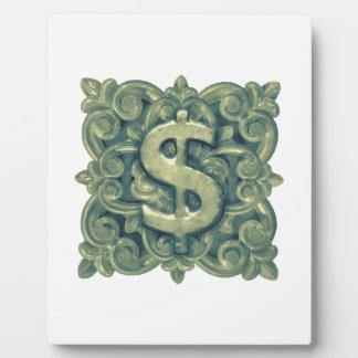 Money Symbol Ornament Plaque