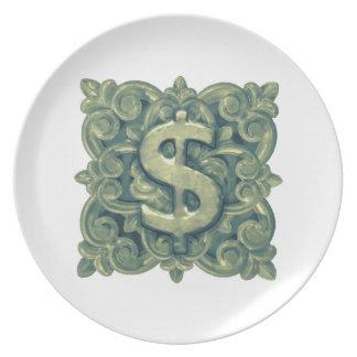 Money Symbol Ornament Plate