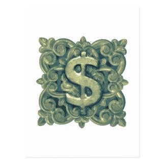 Money Symbol Ornament Postcard