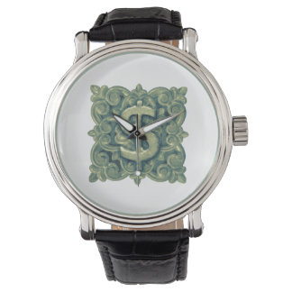 Money Symbol Ornament Wristwatches
