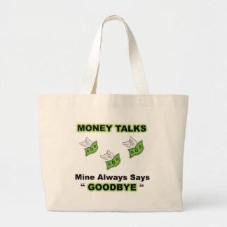Money Talks Full Large Tote Bag