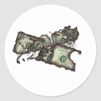 Money To Burn Classic Round Sticker