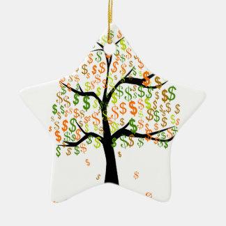 Money Tree Ceramic Star Ornament