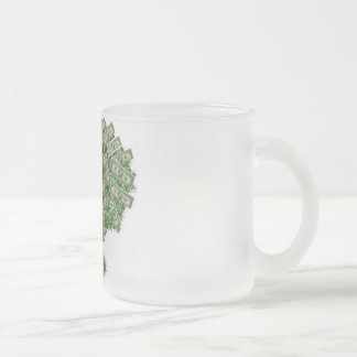 Money Tree Frosted Glass Coffee Mug