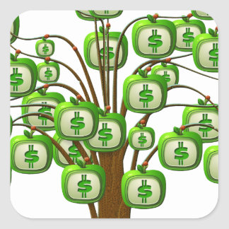 money tree square sticker