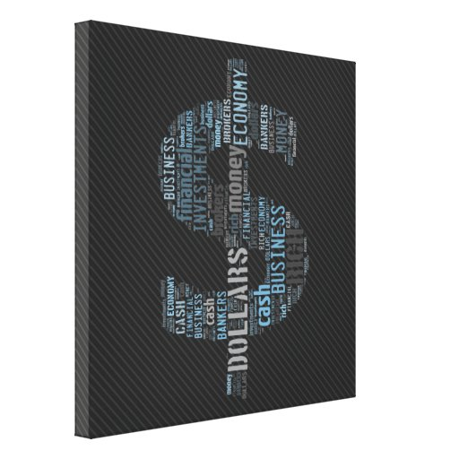 Money Typed Text Symbol   Business Gifts Gallery Wrapped Canvas