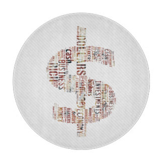 Money Typed Text Symbol | Business Gifts Cutting Board