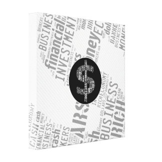 Money Typed Text Symbol | Business Gifts Stretched Canvas Prints