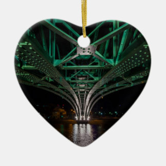 Mong Bridge, Ho Chi Minh City, Vietnam Ceramic Heart Ornament