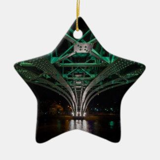 Mong Bridge, Ho Chi Minh City, Vietnam Ceramic Star Ornament