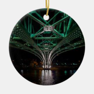 Mong Bridge, Ho Chi Minh City, Vietnam Round Ceramic Ornament