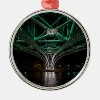Mong Bridge, Ho Chi Minh City, Vietnam Silver-Colored Round Ornament