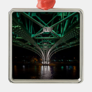 Mong Bridge, Ho Chi Minh City, Vietnam Silver-Colored Square Ornament