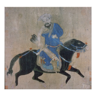 Mongol archer on horseback poster