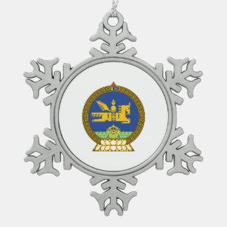Mongol (Mongolian) emblem Pewter Snowflake Ornament