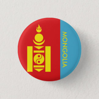 mongolia 1 inch round button