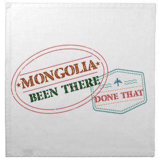 Mongolia Been There Done That Printed Napkin