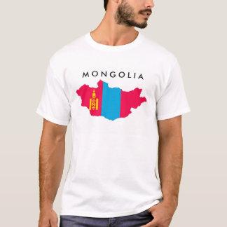 mongolia country flag map shape symbol T-Shirt