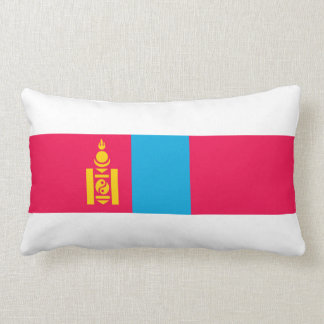 Mongolia country flag nation symbol lumbar pillow