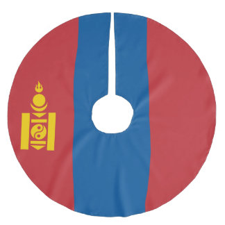 Mongolia Flag Brushed Polyester Tree Skirt