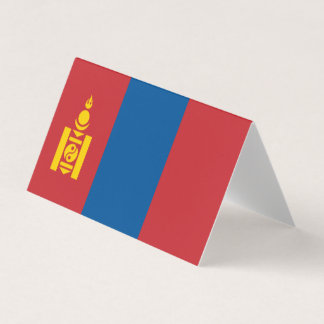 Mongolia Flag Business Card