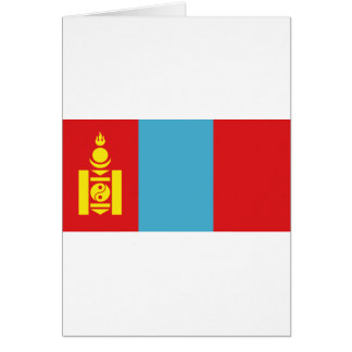 Mongolia Flag Card
